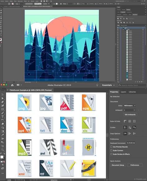 herramientas e interfaz de adobe illustrator