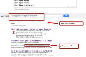 buscar correo electrónico en google