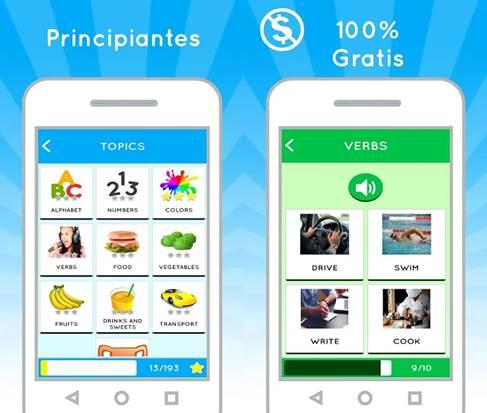 características de aprende inglés gratis