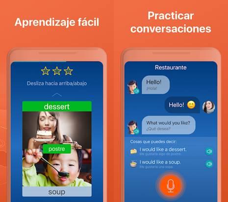 características de la app mondly