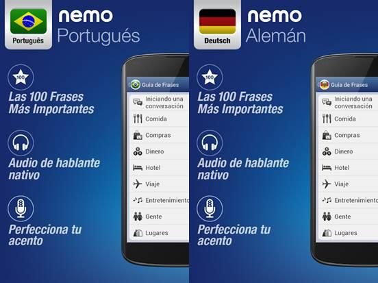 características de nemo en dos idiomas