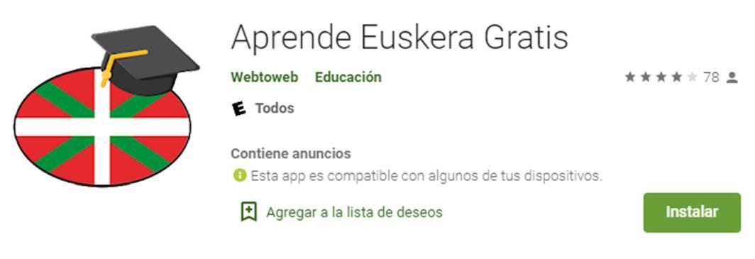 descargar aprende euskera gratis