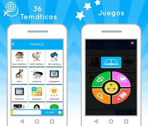 funcionamiento de la app aprende inglés gratis