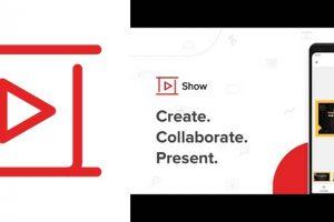 logo de la app para hacer diapositivas zoho show