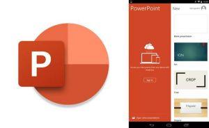 logo e inicio de la aplicación para hacer diapositivas power point