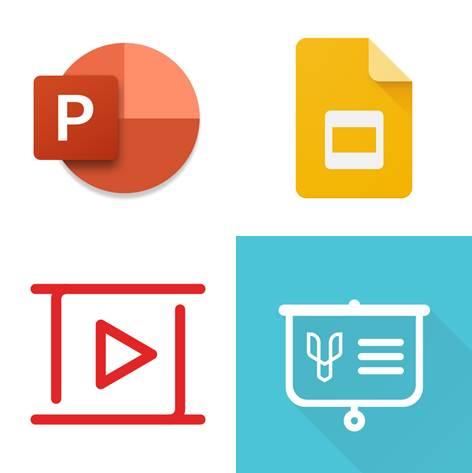 logos de aplicaciones para hacer diapositivas