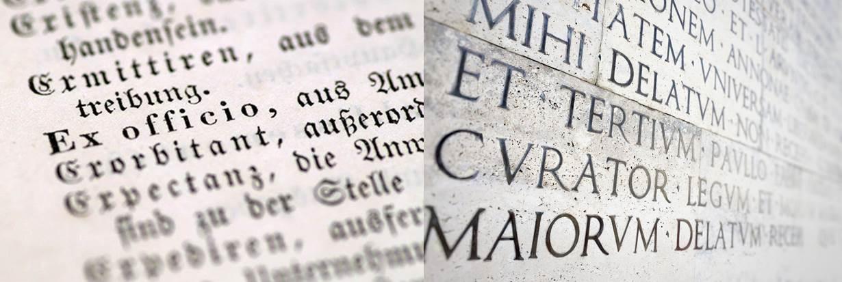 textos escritos en latín