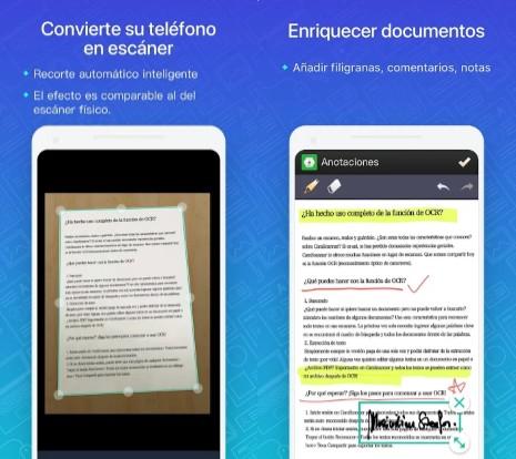 aplicación para digitalizar documentos camscanner