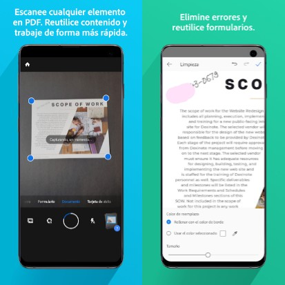 la mejor app para digitalizar documentos adobe scan