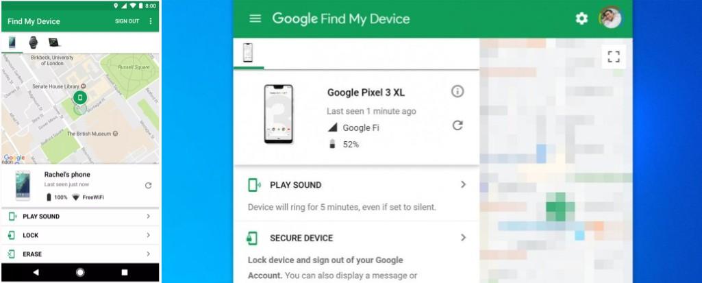 localizar y rastrear un móvil con google
