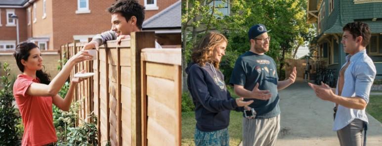 vecinos hablando sobre conexión de fibra óptica