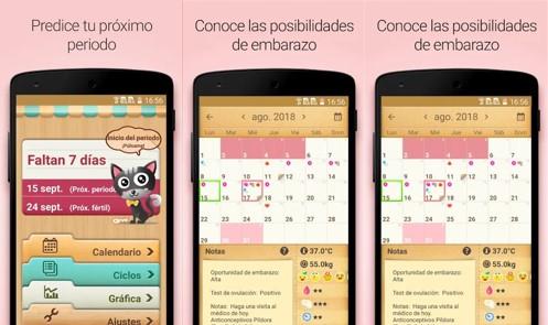 aplicaciones de calendario calendario menstrual