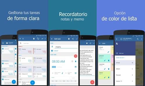 cualidades de la app lista de actividades diarias con recordatorio