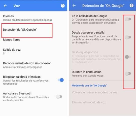 Cómo desactivar Google Now
