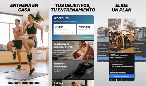 interfaz de freeletics