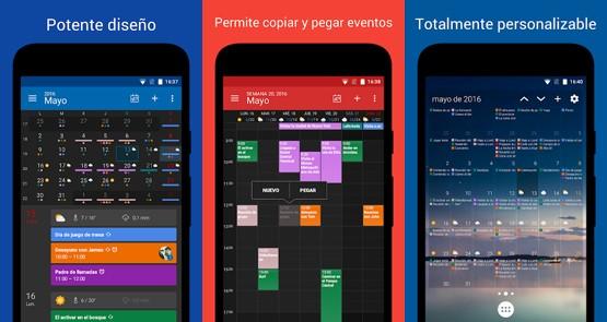 interfaz de la app calendario de digical