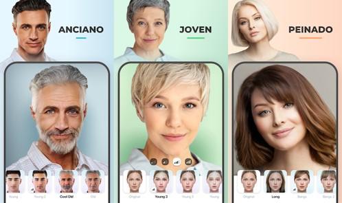 opciones de faceapp para cambio de rostro