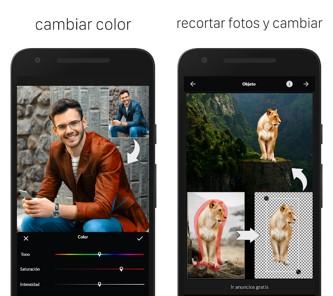 opciones de aplicaciones para aclarar fotos lightx