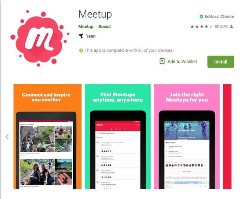 Meetup aplicaciones para conocer gente cercana
