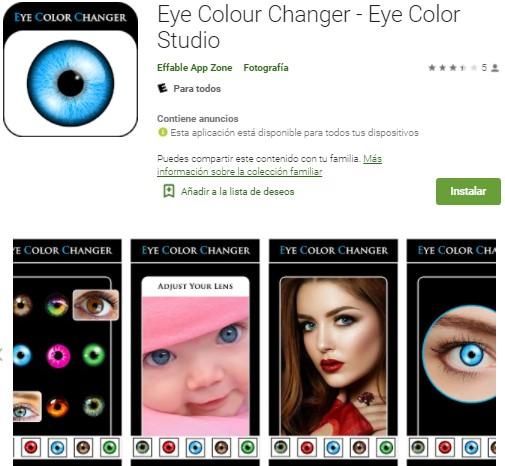 Eye Colour Changer - Eye Color Studio